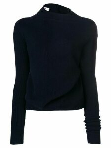 Jil Sander twisted jersey jumper - Blue