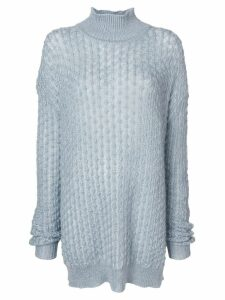 Jil Sander oversized turtle neck jumper - Blue