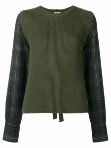 Nº21 tie back jumper - Green