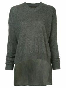 Uma Wang slouchy jumper - Grey