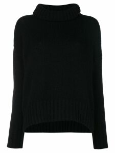 Incentive! Cashmere cashmere roll neck jumper - Black