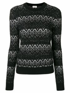 Saint Laurent lurex intarsia sweater - Black