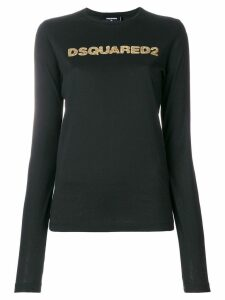 Dsquared2 sequin logo print jumper - Black