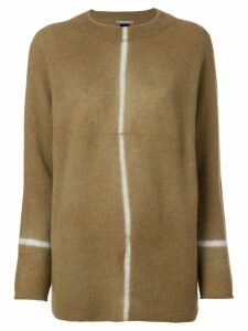Suzusan long knit sweater - NEUTRALS