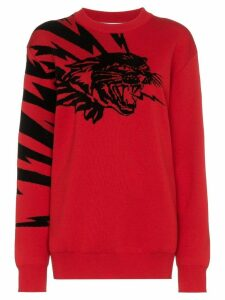 Givenchy flying cat jacquard jumper - Red