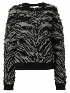 Stella McCartney textured zebra patterned sweater - Black