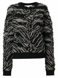 Stella McCartney textured zebra patterned sweater - Black