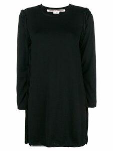 Comme Des Garçons raw seam long-line sweater - Black