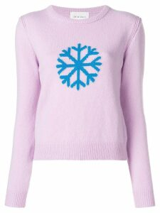 Alberta Ferretti snowflake intarsia sweater - PINK