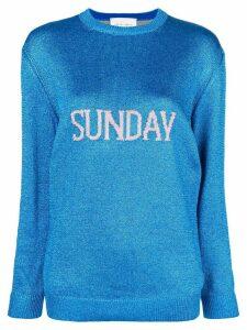 Alberta Ferretti Sunday intarsia knit sweater - Blue