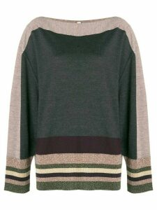 Antonio Marras stripe detail sweater - Grey