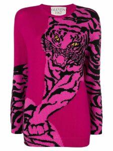 Valentino tiger intarsia sweatshirt - Pink