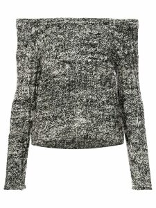 The Elder Statesman cashmere off shoulder sweater - Black
