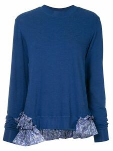 Clu longsleeved ruffle detailed jumper - Blue