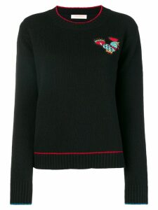 La Doublej badge detail sweater - Black