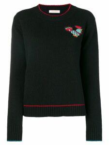 La Doublej badge detail sweater - Black