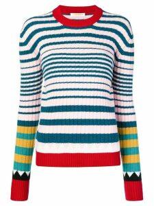 La Doublej striped rib sweater - Blue