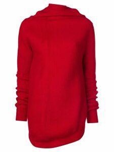 Jil Sander cowl neck jumper - Red