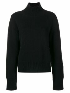Moncler high neck zip jumper - Black