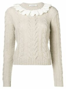 Philosophy Di Lorenzo Serafini lace collar sweater - NEUTRALS