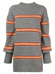 MSGM striped jumper - Grey