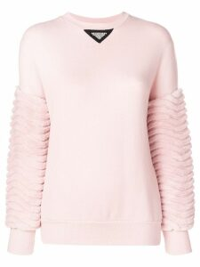Mr & Mrs Italy panelled sweater - PINK