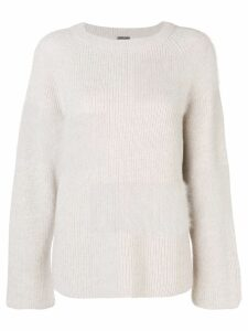 Lorena Antoniazzi fuzzy panel sweater - Neutrals