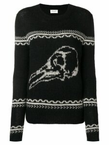 Saint Laurent skull knit sweater - Black