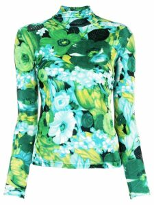 Richard Quinn floral print turtleneck jumper - Green
