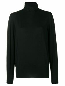 Agnona long-sleeve fitted sweater - Black