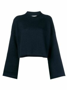 JW Anderson navy shoulder cable detail jumper - Blue