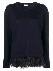 P.A.R.O.S.H. feather hem sweater - Blue
