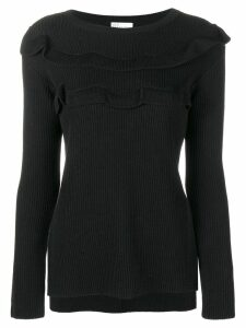 Red Valentino frill trim sweater - Black