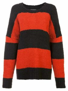 Amiri striped knit jumper - Black
