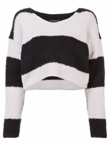 Amiri cropped striped jumper - Black