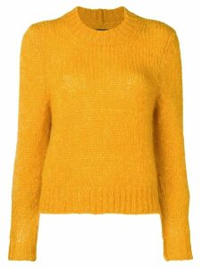Isabel Marant cropped chunky knit sweater - Orange