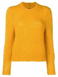 Isabel Marant cropped chunky knit sweater - Orange