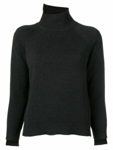 Helmut Lang asymmetric turtleneck jumper - Grey