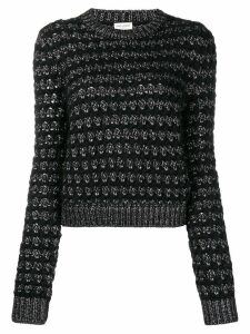 Saint Laurent zigzag knit jumper - Black