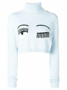 Chiara Ferragni Flirting cropped jumper - Blue