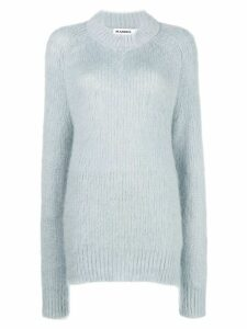 Jil Sander textured crew-neck jumper - Blue