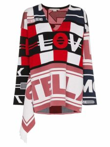 Stella McCartney All Is Love patchwork sweater - Red