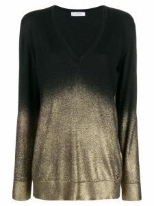 Versace Collection V-neck lightweight jumper - Black