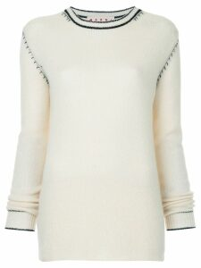 Marni crew neck sweater - White