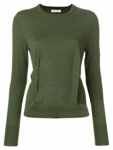 JW Anderson khaki crew-neck jumper with dart detailing - Green