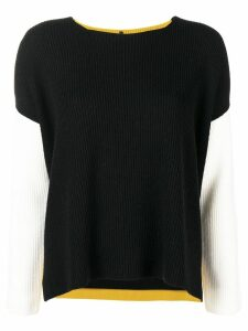 Pierantoniogaspari colour block sweater - Black
