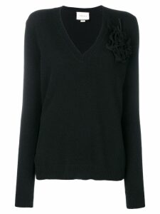 Gucci corsage flower jumper - Black