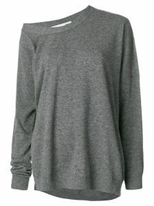 Stella McCartney asymmetric loose-fit jumper - Grey