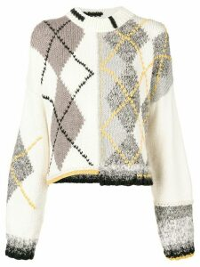 Pringle of Scotland hand-knit Argyle sweater - Grey
