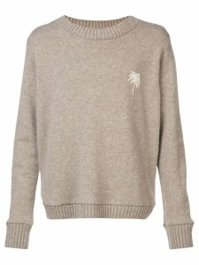 The Elder Statesman palm tree sweater - Brown